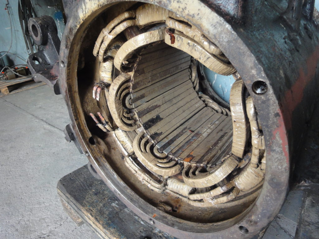 silnik elektryczny przed remontem